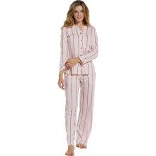 Pastunette - Pyjamas med Striber Light Pink