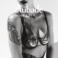 Aubade - Fleur De Tattoo Balconette BH Encre Noir
