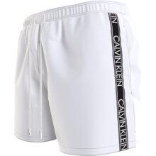 Calvin Klein Herre - Core Logo Badebukser Classic White