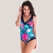 Lentiggini swimwear - V-Badedragt Fuchsia/Navy
