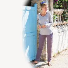 Lady avenue - Bambus Pyjamas lang ærmet Mocca Pepita