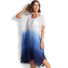 Seafolly - Dip Dye Midi Kaftan Strandkjole Blue