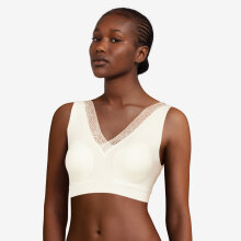 Chantelle - Soft Stretch Top med Mesh Ivory