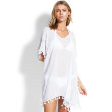 Seafolly - Amnesia Kaftan Strandskjorte Hvid