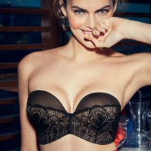 Wonderbra - Glamour Perfect Strapless BH Sort