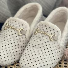 Copenhagen Shoes - Melania Dots Slippers Off White