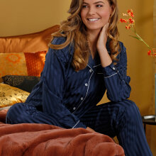 Pastunette - Pyjamas med Knapper Dark Blue