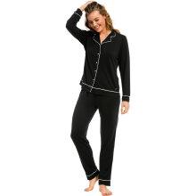 Pastunette - Pyjamas med Knapper Black