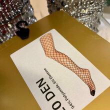 Hype The Detail - Fishnet Tights Sort