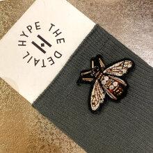 Hype The Detail - Golden Bee Sock Mørk Grøn