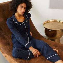 Esprit - Pyjamas med piping Navy