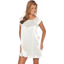 Lady avenue - Silkenatkjole med ærme Off-White