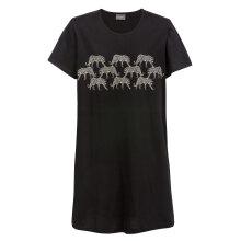 Trofé - Bigshirt Leopard Sort