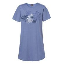 Trofé - Bigshirt Blomster Blå