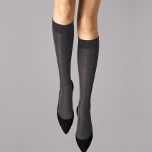 Wolford - Velvet de Luxe 50 Knee-High Anthracite