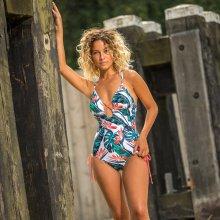 Lentiggini swimwear - Paradise Bloom Badedragt Hvid/Coral