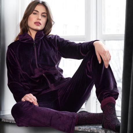 Decoy - Velour Hjemmesæt Purple