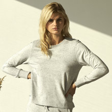 JBS of Denmark - Sweatshirt Bambus Lys Grå Melange