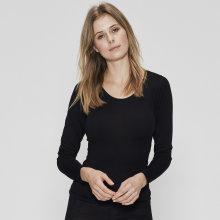 JBS of Denmark - Langærmet T-shirt Uld Sort