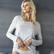 JBS of Denmark - Lang Ærmet T-shirt Bambus Lys Grå Melange
