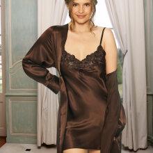 Lady avenue - Silke Underkjole med blonde Chocolate