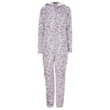 Decoy - Jumpsuit med Øre Leopard Grey