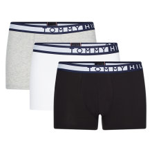 Tommy Hilfiger Herre - Logo Trunks 3pk sort/hvid/grå