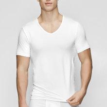 JBS of Denmark Herre - Øko Bomuld T-shirt V-Neck Hvid