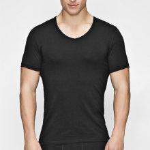 JBS of Denmark Herre - Øko Bomuld T-shirt V-Neck Sort