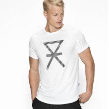 JBS of Denmark Herre - T-shirt med Print Hvid