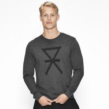 JBS of Denmark Herre - Bambus T-Shirt Langærmet Mørk Grå Melange