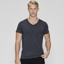 JBS of Denmark Herre - Bambus T-Shirt V-Neck Mørk Grå