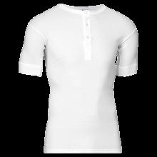 JBS Herre - Bomuld T-shirt med knapper Hvid