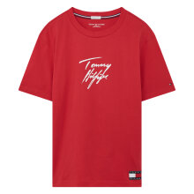 Tommy Hilfiger - Tommy 85 Logo T-Shirt Tango Red