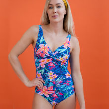 Lentiggini swimwear - Flower Badedragt Blue Coral