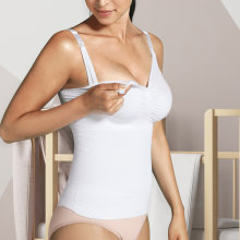 Carriwell - Seamless Amme Top med Shapewear Hvid