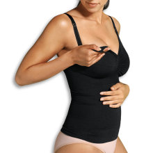 Carriwell - Seamless Amme Top med Shapewear Sort